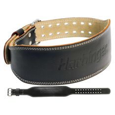 Harbinger 6in Leather Weight Lifting Belt, , rebel_hi-res