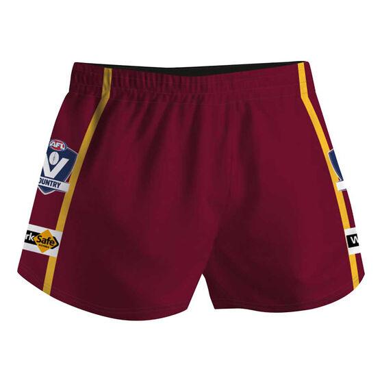 Cougar Sportswear V.C.F.L Training Shorts, Maroon, rebel_hi-res