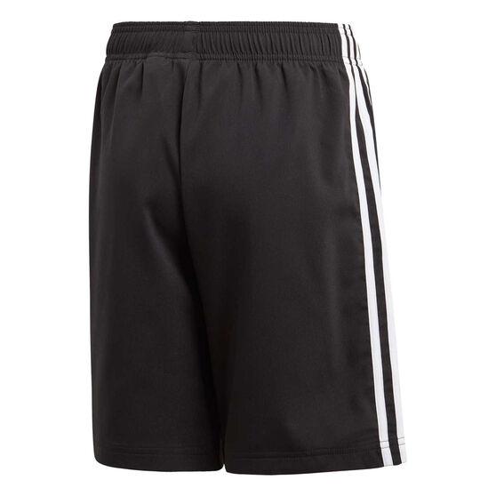 adidas Boys Essentials 3-Stripes Woven Shorts, Black / White, rebel_hi-res