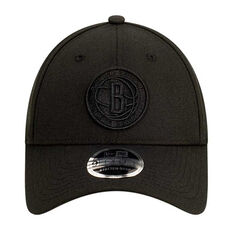 Brooklyn Nets New Era Black on Black 9FORTY Snapback, , rebel_hi-res