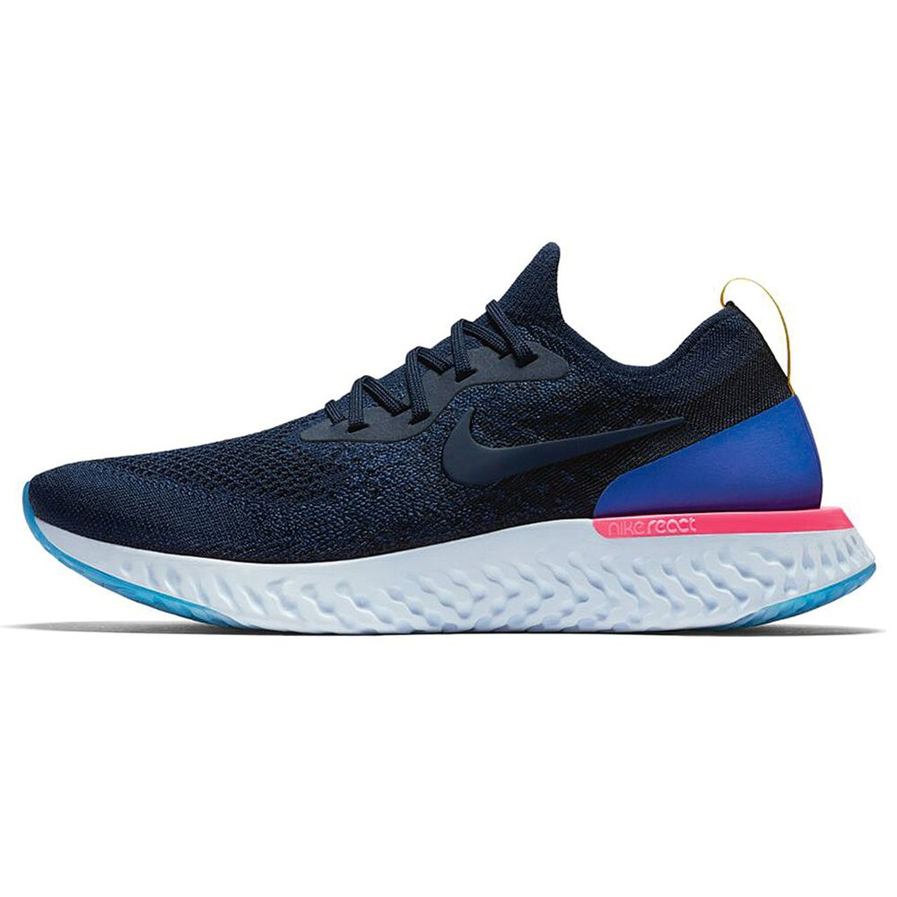 02c505ea1a54d Nike Epic React Flyknit Mens Running Shoes Blue   Black US 10 ...