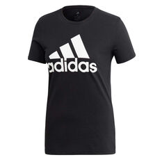 adidas Womens Must Haves Badge of Sport Tee Black XS, Black, rebel_hi-res