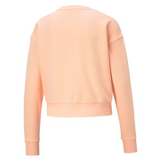 Puma Womens Rebel Crew Sweatshirt Orange XS, Orange, rebel_hi-res