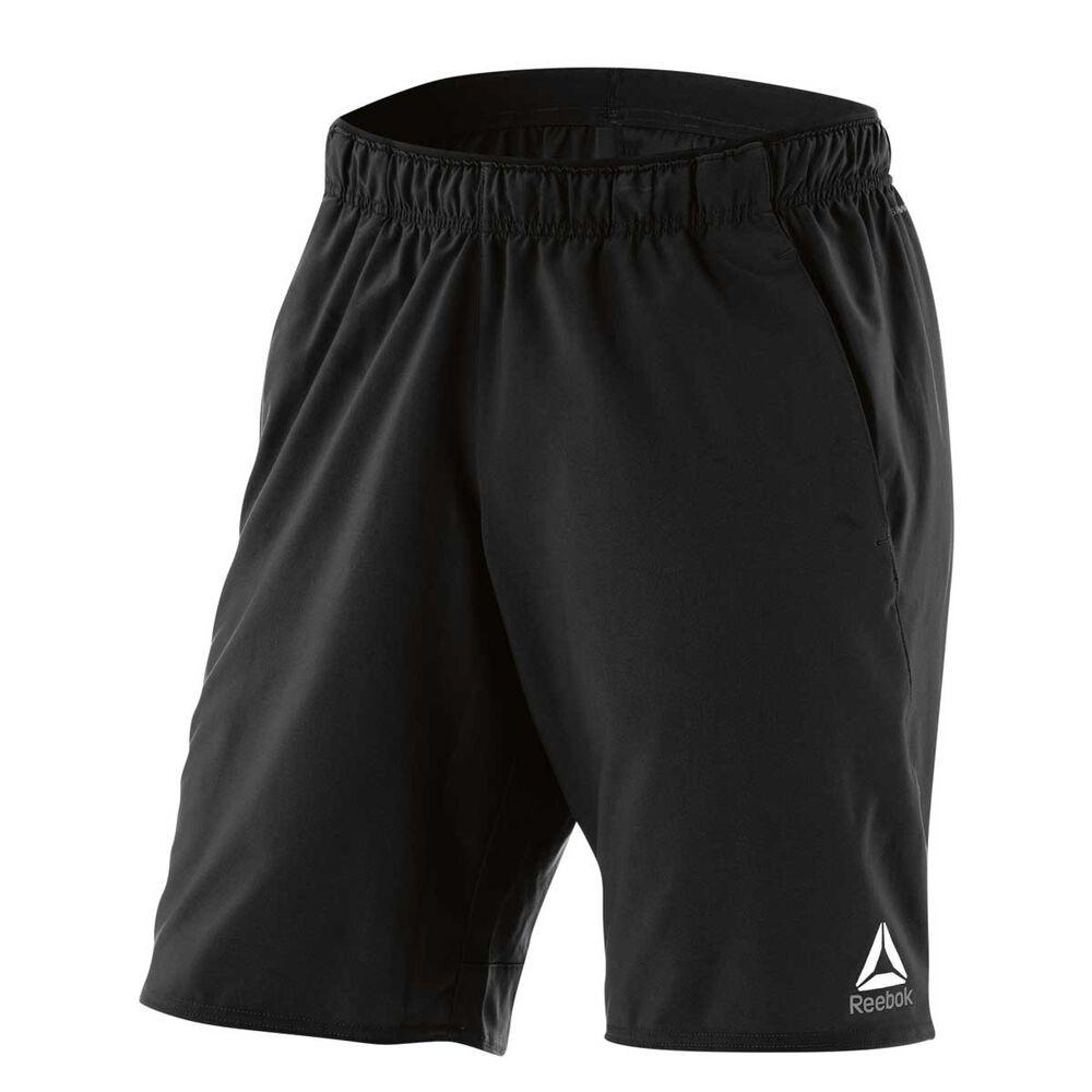 f2b3a46a67c Reebok Mens Workout Ready Graphic Training Shorts Black XL Adult ...