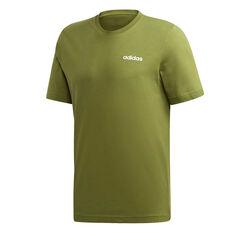 adidas Mens Essentials Plain Tee Green XS, Green, rebel_hi-res