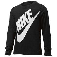 Nike Boys Jumbo Futura Long Sleeve Tee Black 4, Black, rebel_hi-res