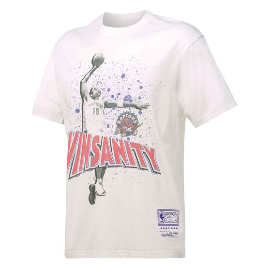 Mitchell & Ness Mens Toronto Raptors Vince Carter Vinsanity Tee, White, rebel_hi-res