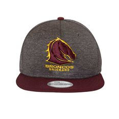 Brisbane Broncos 2018 New Era 9Fifty Shadow Cap Grey OSFA, , rebel_hi-res