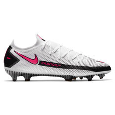 Nike Phantom GT Elite Football Boots White/Pink US Mens 7 / Womens 8.5, White/Pink, rebel_hi-res