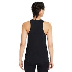Nike Womens Dri-FIT One Standard Tank Black XS, Black, rebel_hi-res