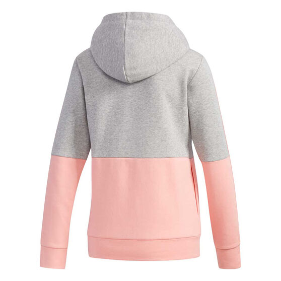 adidas Womens Essentials Colourblock Hoodie Grey XS, Grey, rebel_hi-res