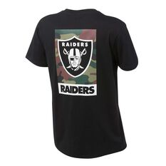 Majestic Mens Raiders Madison Tee Black S, Black, rebel_hi-res