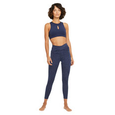 Nike Womens Yoga Dots Twist 7/8 Tights, Blue, rebel_hi-res