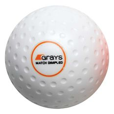 Grays Match Crater Hockey Ball White, White, rebel_hi-res