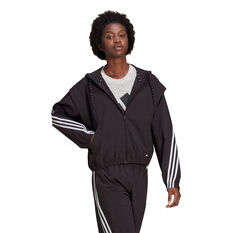adidas Womens Aeroready Windbreaker Black XS, Black, rebel_hi-res
