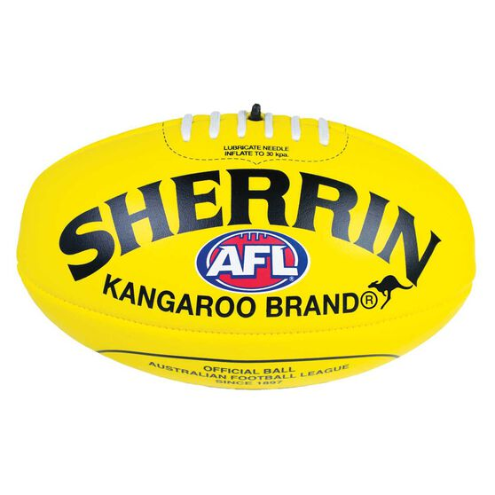 Sherrin Soft Touch Australian Rules Ball Yellow 3, , rebel_hi-res