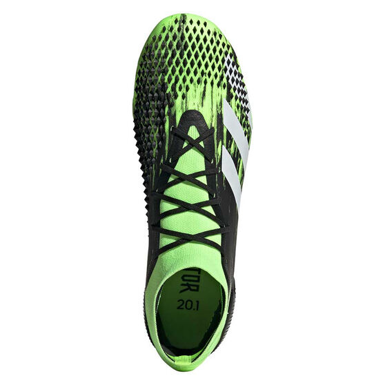 adidas Predator Mutator 20.1 Football Boots, Black/Green, rebel_hi-res