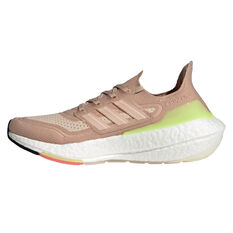 adidas Ultraboost 21 Womens Running Shoes White/Pink US 6, White/Pink, rebel_hi-res