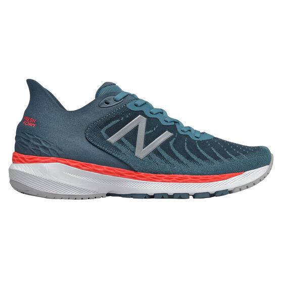 New Balance 860 v11 2E Mens Running Shoes, Green/Orange, rebel_hi-res