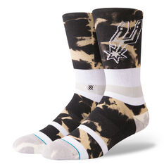 Stance Mens San Antonio Spurs Acid Wash Socks Multi M, Multi, rebel_hi-res
