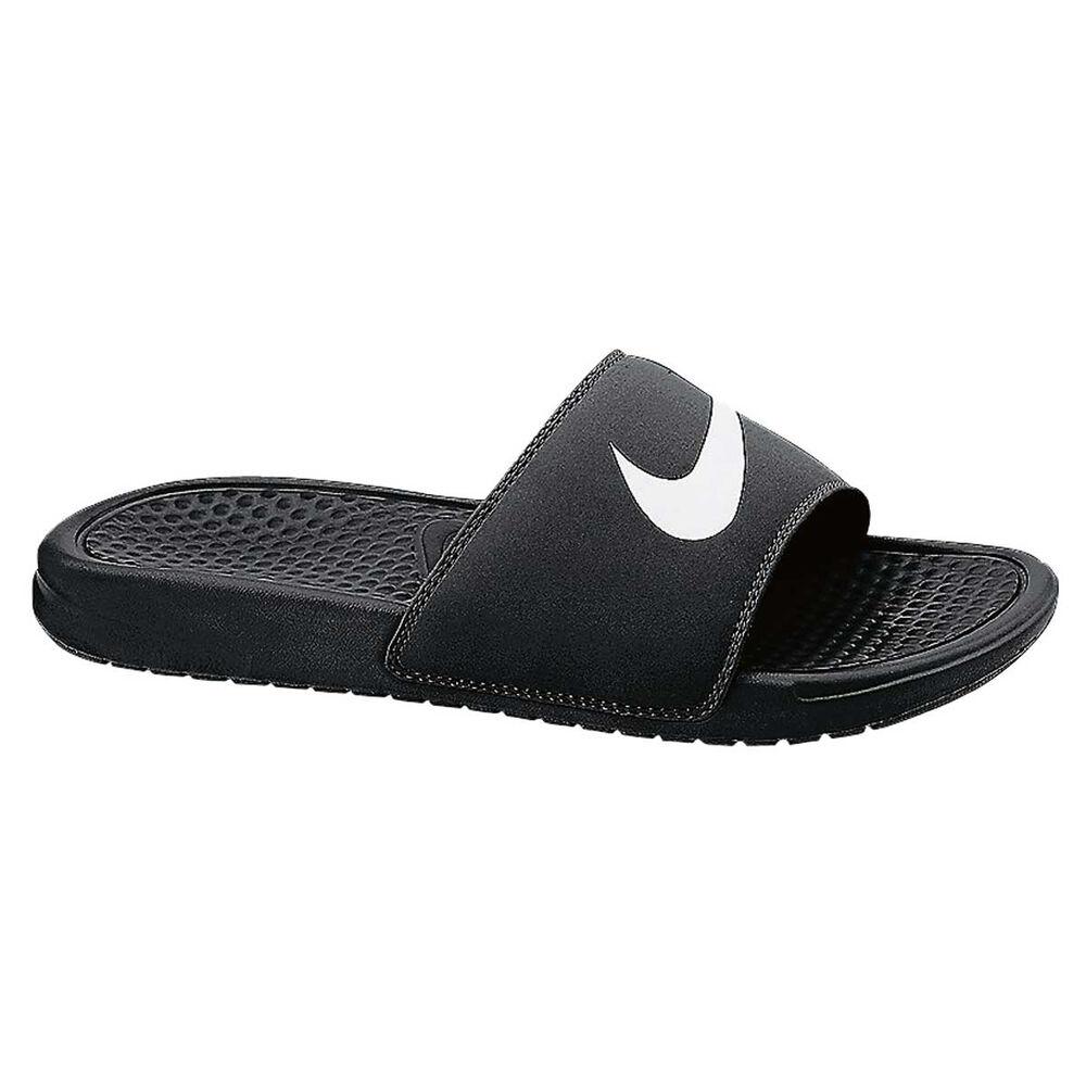 0b8d7823c7fd Nike Benassi Swoosh Mens Slide Black   White US 10