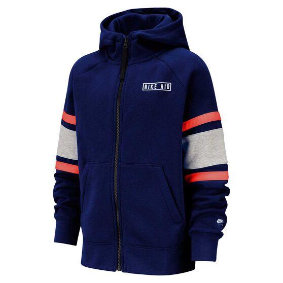 Nike Air Boys Full Zip Hoodie, Blue / Grey, rebel_hi-res