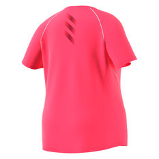 adidas Womens Adi Runner Tee Plus Pink XL, Pink, rebel_hi-res