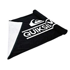 Quicksilver Wordmark Towel Black OSFA, , rebel_hi-res