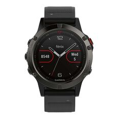 Garmin Fenix 5 GPS Heart Rate Watch Slate Grey / Black, , rebel_hi-res