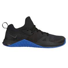 Nike Metcon Flyknit 3 Mens Training Shoes Black / Blue US 7, Black / Blue, rebel_hi-res