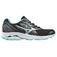Mizuno Wave Inspire 14 Womens Running Shoes Black / Grey US 6, Black / Grey, rebel_hi-res