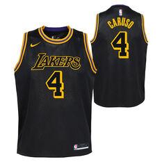 Nike Los Angeles Lakers Alex Caruso 2020/21 Kids Mamba City Edition Jersey Black M, Black, rebel_hi-res