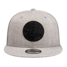 Philadelphia 76ers New Era 9FIFTY Heather Blackout Cap, , rebel_hi-res