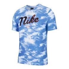 Nike Mens DNA Basketball Tee White / Blue XS, White / Blue, rebel_hi-res