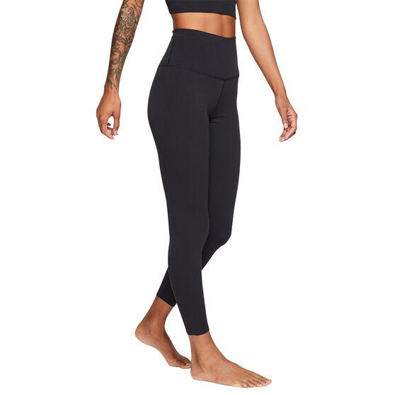 Nike Yoga Womens Luxe Tights, Black/Grey, rebel_hi-res