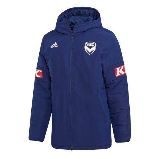 Melbourne Victory FC 2019/20 Mens Stadium Jacket Navy M, Navy, rebel_hi-res