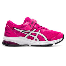 Asics GT 1000 10 Kids Running Shoes Pink/White US 11, Pink/White, rebel_hi-res