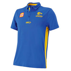 West Coast Eagles 2019 Mens Player Polo Blue / Yellow S, Blue / Yellow, rebel_hi-res