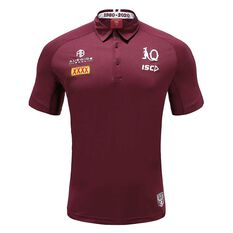 QLD Maroons State of Origin 2020 Mens Performance Polo Maroon S, Maroon, rebel_hi-res