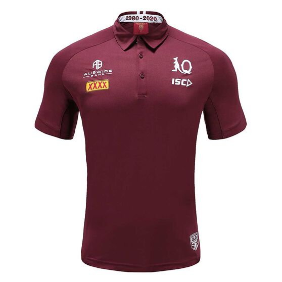 QLD Maroons State of Origin 2020 Mens Performance Polo, , rebel_hi-res