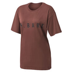 Running Bare Womens Hollywood 90s Relax Tee Brown 8, Brown, rebel_hi-res