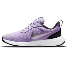 Nike Revolution 5 Kids Running Shoes Lilac/White US 11, Lilac/White, rebel_hi-res