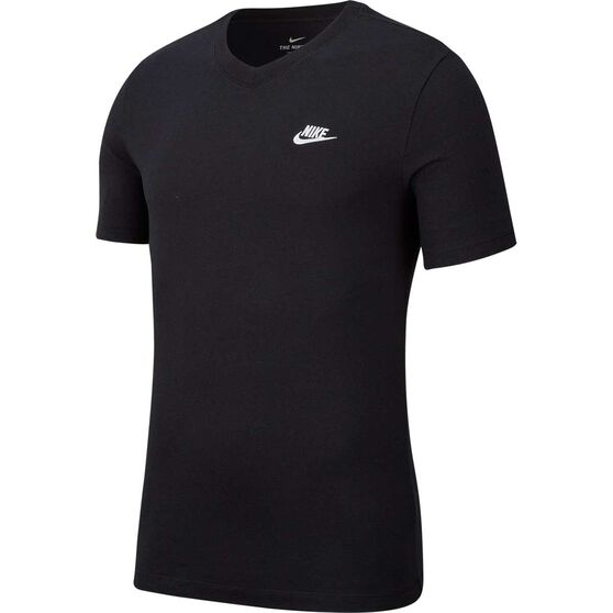 Nike Mens Sportswear Club V-Neck Tee Black M, Black, rebel_hi-res