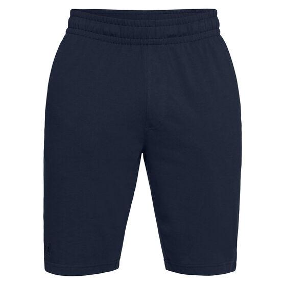 Under Armour Mens Rival Jersey Sportswear Shorts, Navy / Black, rebel_hi-res