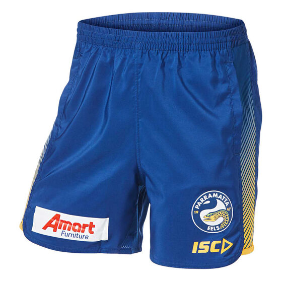 Parramatta Eels 2019 Mens Training Shorts, Blue, rebel_hi-res