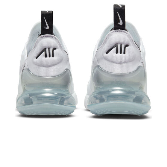 Nike Air Max 270 Kids Casual Shoes White/Purple US 5, White/Purple, rebel_hi-res