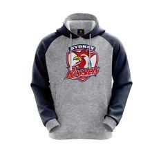Sydney Roosters 2019 Mens Hoodie Grey S, Grey, rebel_hi-res