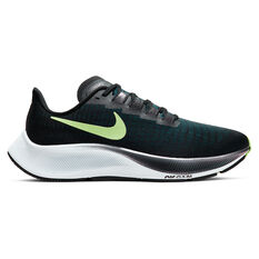 Nike Air Zoom Pegasus 37 Womens Running Shoes Black / Green US 11, Black / Green, rebel_hi-res