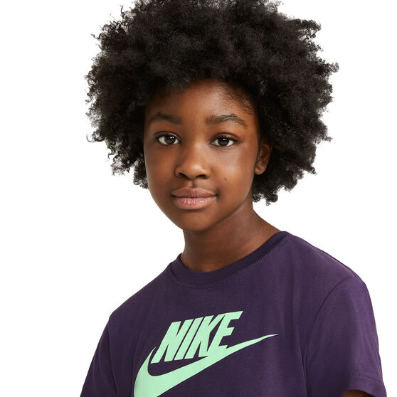 Nike Sportswear Girls Futura Tee, Purple, rebel_hi-res