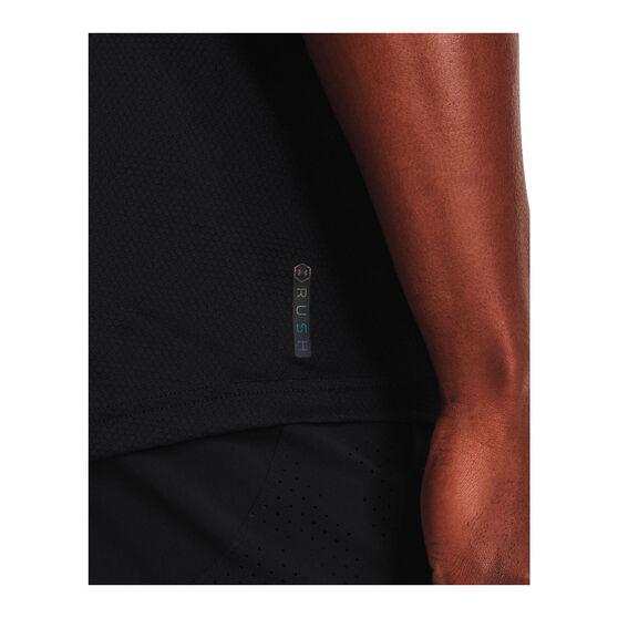 Under Armour Mens Rush HeatGear 2.0 Short Sleeve Tee, Black, rebel_hi-res